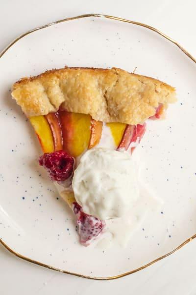Peach Raspberry Galette Picture