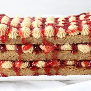 Peanut butter and jelly torte