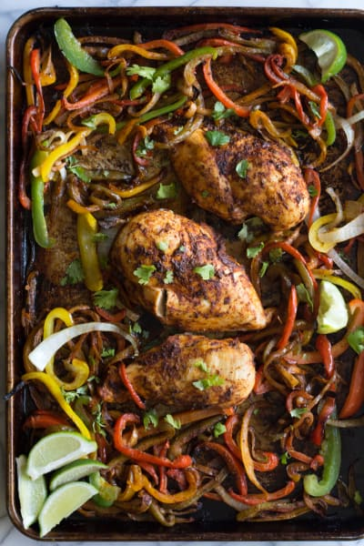 Sheet Pan Chicken Fajitas Image