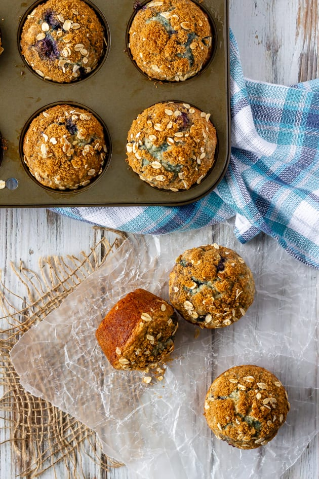 Blueberry Oatmeal Muffins Picture