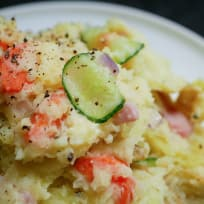Japanese Style Potato Salad with Ham