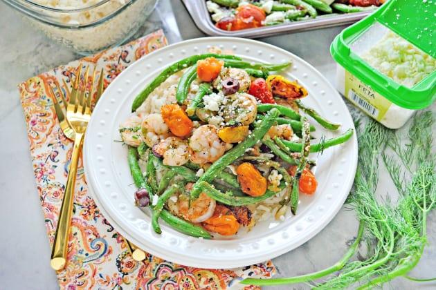 Sheet Pan Greek Shrimp Dinner Photo