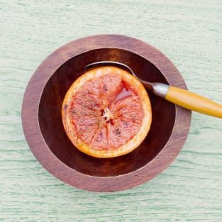 Broiled grapefruit photo
