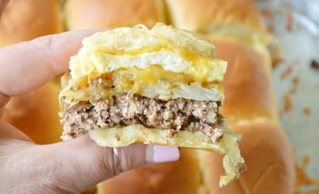 Cheesy Hash Brown Breakfast Sliders Image