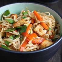 Tofu Vegetable Lo Mein Recipe