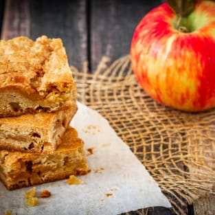 Caramel apple blondies photo