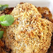 Baked Garlic Asiago Chicken