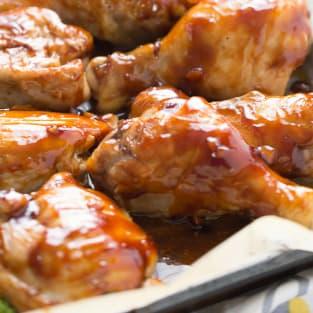 Bourbon chicken sheet pan dinner photo