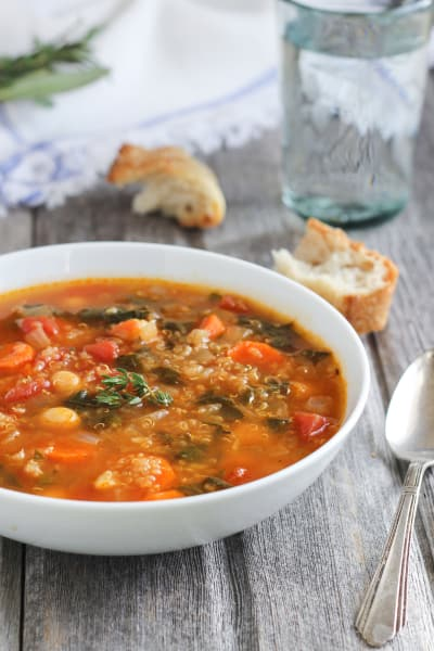 Quinoa Chickpea Spinach Soup Picture