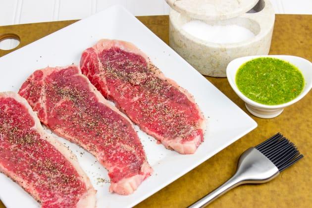 Grilled Chimichurri Steaks Image