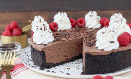 No-Bake Chocolate Raspberry Cheesecake Recipe