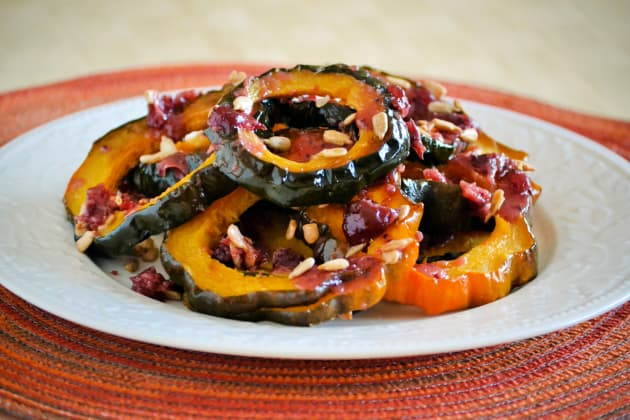 Roasted Acorn Squash with Cranberry Sauce Photo