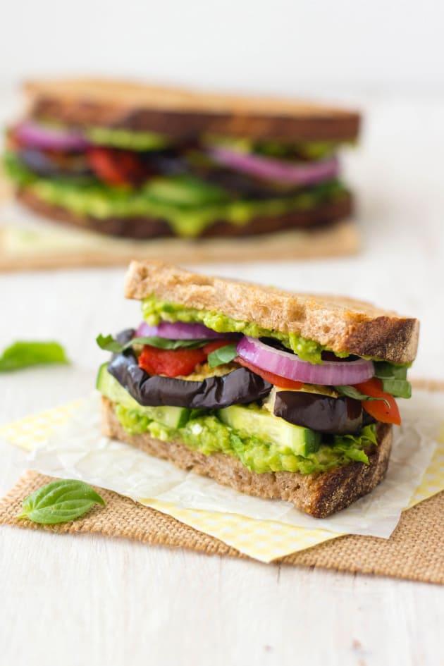 Broiled Eggplant Sandwich Image