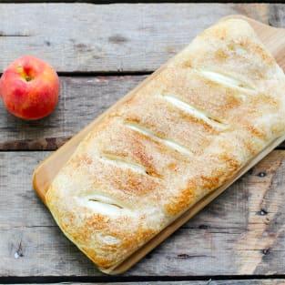 Peaches and cream bread photo
