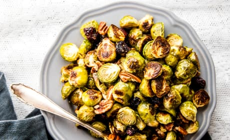 Cranberry Pecan Roasted Brussels Sprouts Recipe
