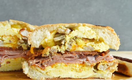 Breakfast Dagwood Sandwich Recipe
