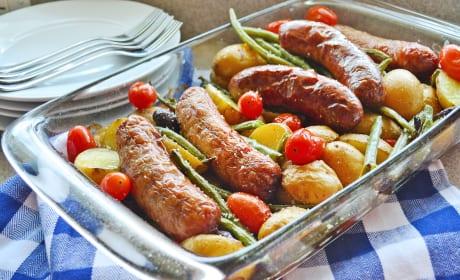 Sausage Potato & Green Bean Bake Image