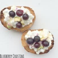 Roasted Blueberry Crostini