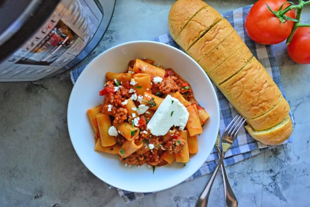 Instant Pot Sausage & Rigatoni with Goat Cheese Pic