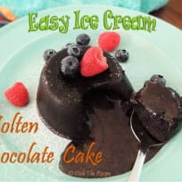 Easy Ice Cream Molten Chocolate Lava Cake