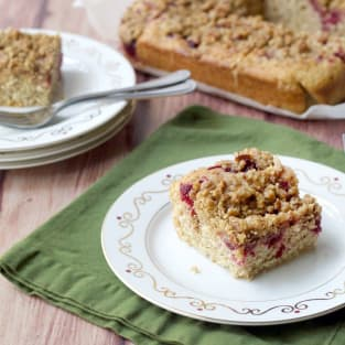 Cranberry streusel coffee cake photo
