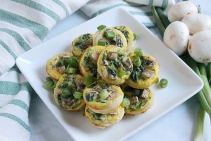 Spinach Mushroom Quiche Bites Recipe
