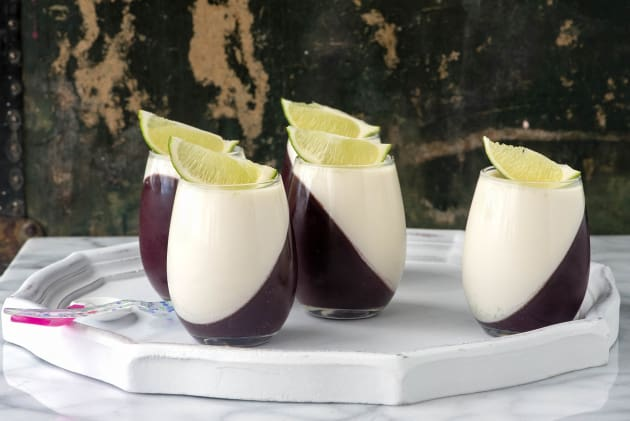 Blueberry Guava Panna Cotta Photo