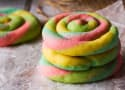Rainbow Cream Cheese Cookies Recipe