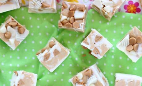 White Chocolate Peanut Butter Cup Fudge Recipe