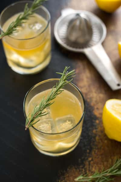 Bourbon Sour with Lemon & Rosemary Image