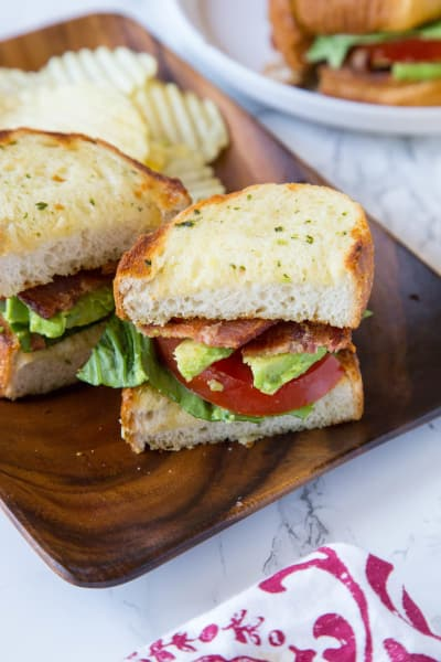 Garlic Bread BLT Pic