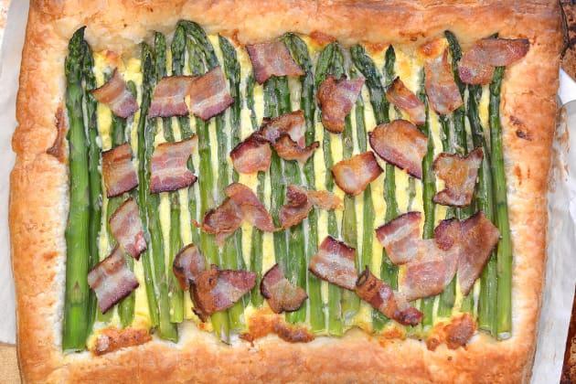 Asparagus Tart with Bacon Photo