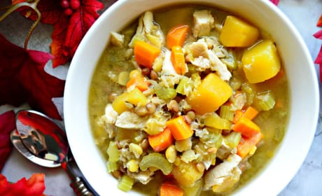 Turkey Butternut Squash and Lentil Soup Recipe