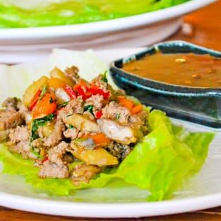 Asian turkey lettuce wraps photo