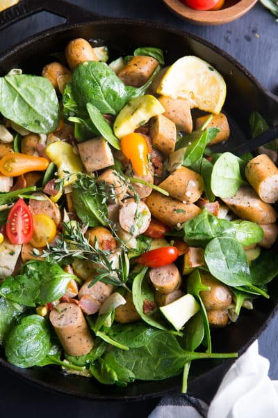 Paleo Sausage Vegetable Skillet Picture