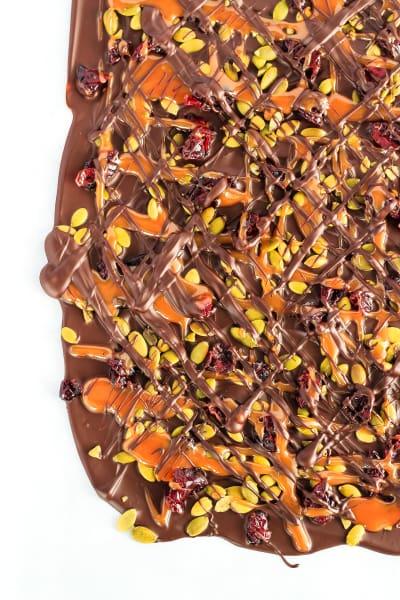 Cranberry Pumpkin Seed Salted Caramel Bark Picture