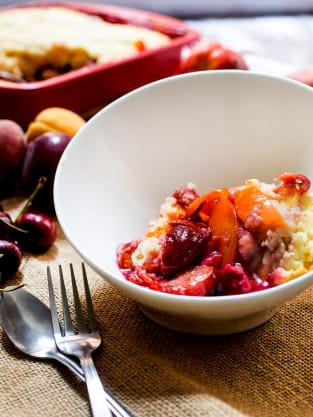 Stone Fruit Cobbler with Bourbon Picture