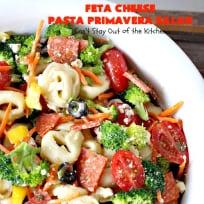 Feta Cheese Pasta Primavera Salad