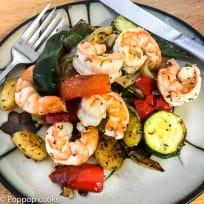 Mediterranean Diet Shrimp Dinner - Gluten Free - One Skillet - Quick and Easy
