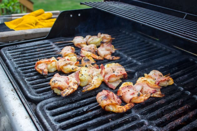 Grilled Bacon Wrapped Shrimp Image