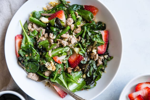 Strawberry Balsamic Paleo Cauliflower Rice Ground Turkey Skillet Photo