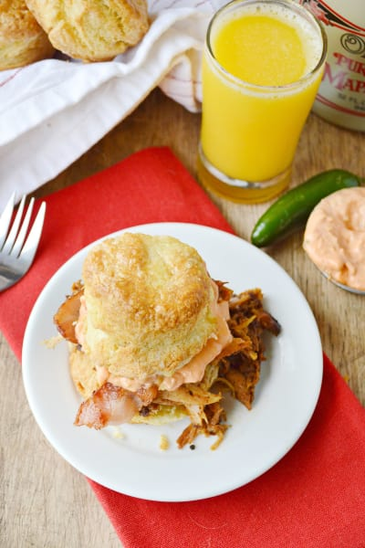 Pulled Pork Breakfast Biscuits Pic