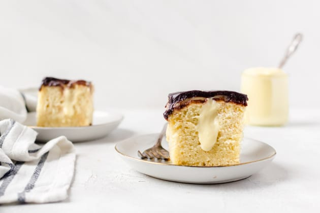 Boston Cream Pie Poke Cake Photo