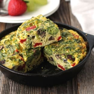 Toaster oven frittata photo