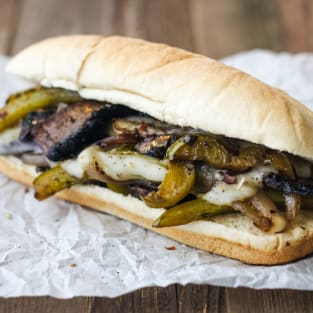 Portobello mushroom sandwich photo