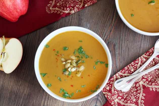 Curried Butternut Squash and Apple Soup Image