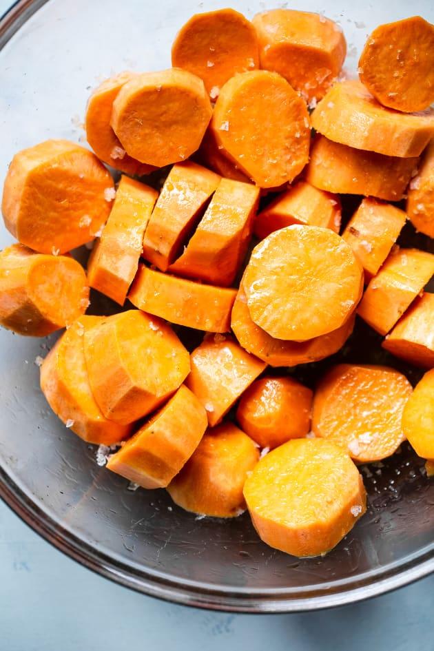 Roasted Tahini Maple Sweet Potatoes Picture