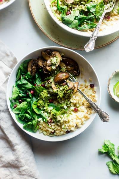 Detox Cauliflower Mushroom Bowls