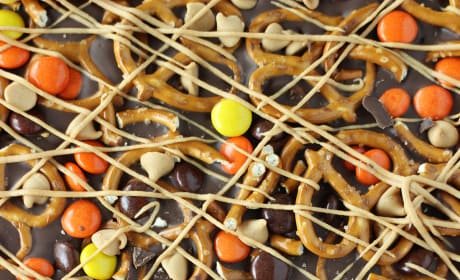 Chocolate Peanut Butter Pretzel Bark Image