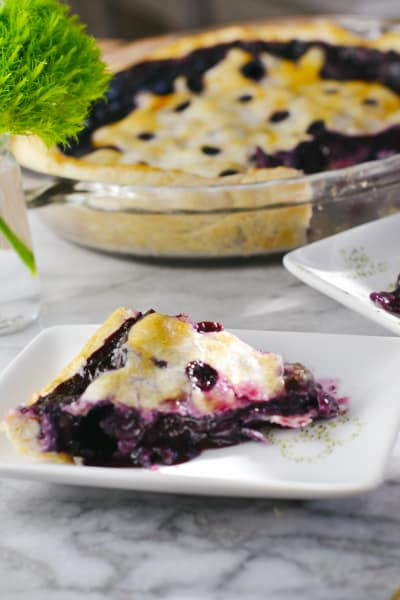 Blueberry Basil Pie Picture